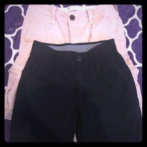 A&F Tan Cargo Shorts & Arizona Black Shorts. Boys!